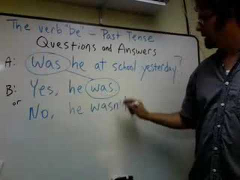"The Verb ""Be"" -- Past Tense Questions and Answers"
