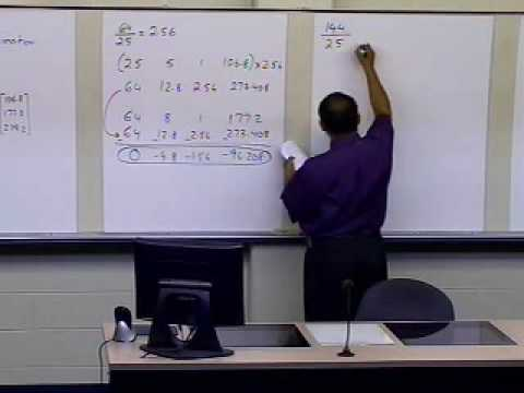 Naive Gaussian Elimination: Example: Part 1 of 2 (Forward Elimination)