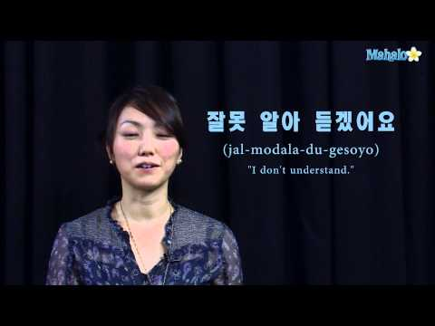 "How to Say ""I Don't Know or Understand"" in Korean"