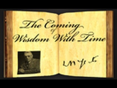 The Coming Of Wisdom With Time by William Butler Yeats - Poetry Reading