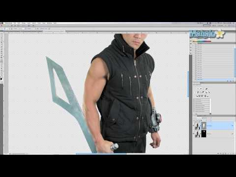 Photoshop Tutorial - Enhance Muscles - Burn and Dodge