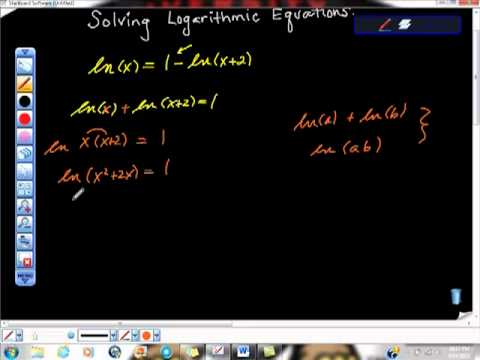 Solving Logarithmic Functions Quadratic Form