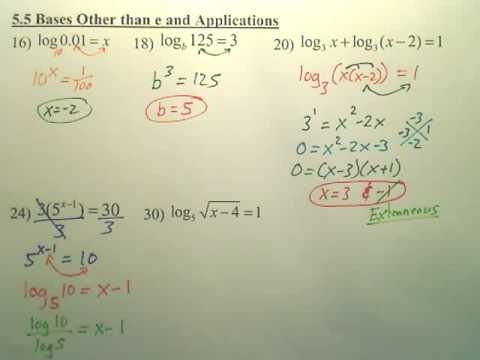 5.5a2 Bases Other than e and Applications - Calculus