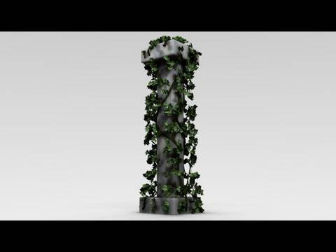 Blender Tutorial: A Greek Column with Ivy growing on it, Part 2