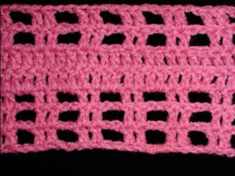 Crochet Geek - Left Hand Mesh Crochet Pattern Stitch