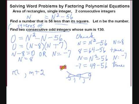 Learn to write and solve polynomial equations part 2