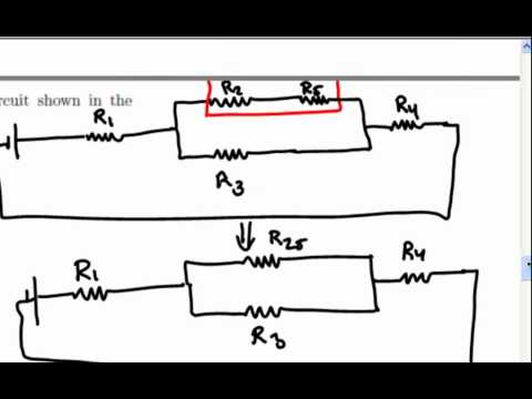 Equivalent Resistance, complex 5 resistor circuit
