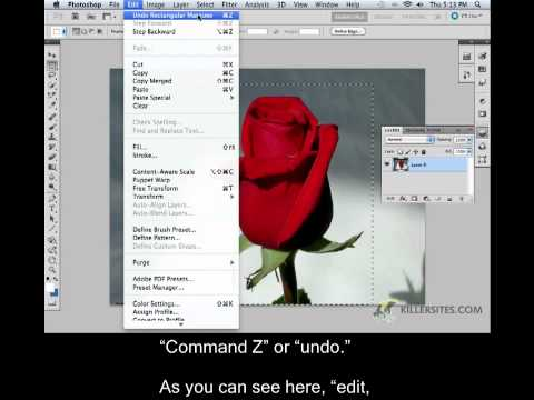 Photoshop CS5 Closed Captioned - Selection Tools Part 1