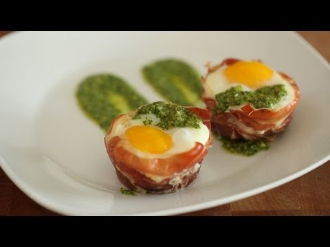 Baked Egg Cups in Prosciutto: Make It (How to) || Kin Eats