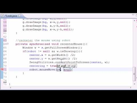 Java Game Development - 35 -  Using the Robot