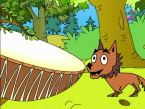 The Fox and the Drum - Animated Stories - Hindi