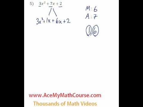 Polynomials - Factoring Trinomials (More Challenging) #5