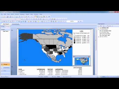 Advanced Crystal Reports 2011 Tutorial | Investigating the Data Map Tool