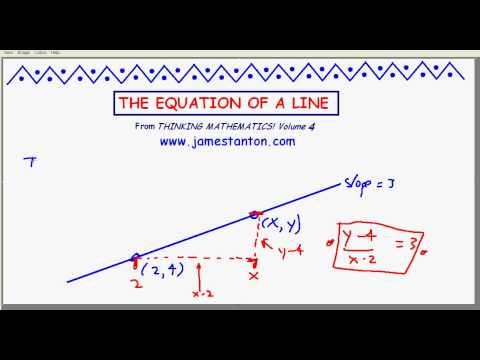 The Equation of a Line (TANTON Mathematics)