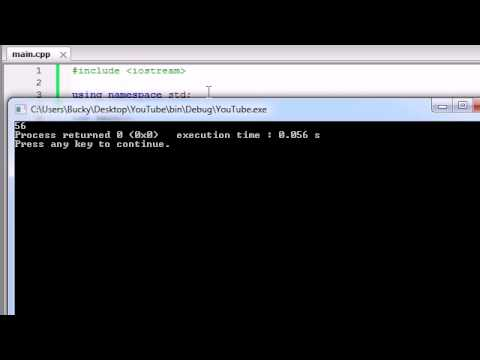 Buckys C++ Programming Tutorials - 7 - Basic Arithmetic