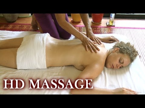 Back Massage How to Floor Work; Full Body Spa Therapy Techniques Athena Jezik Corrina Rachel ASMR