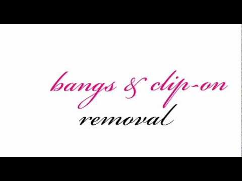 Clip on Hair Extensions and Clip on Bangs Removal