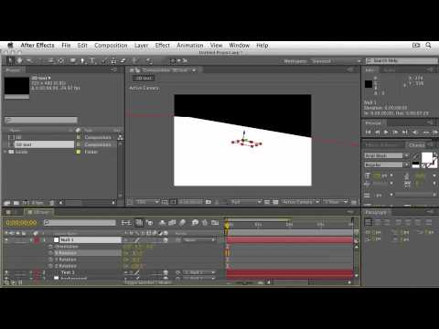 Adobe After Effects CS5  INTRODUCTION TO THE 3D ENGINE  Creating 3D Text with Lights & Shadows