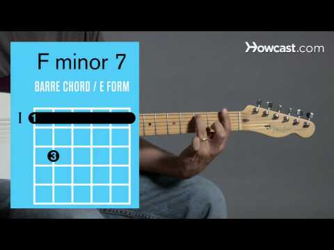 How to Play Guitar: Beginners / Barre Chords: F Minor 7