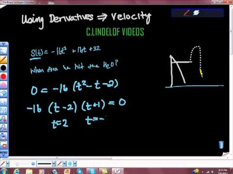 AP CALCULUS AB USING DERIVATIVES TO FIND VELOCITY