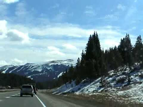 Driving Over Vail Pass, Colorado