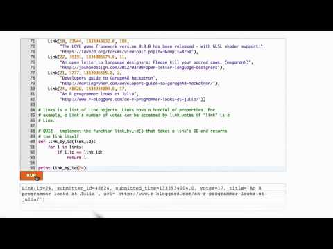 Querying Links Solution - CS253 Unit 3 - Udacity