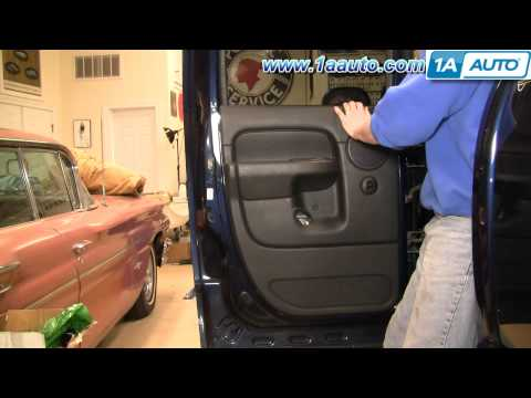 How To Install Replace Rear Door Panel Dodge Ram Quad Cab 02-08 1AAuto.com