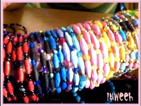 Paper Beads Bangle Bracelets