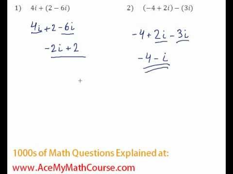 Complex Numbers - Operations Question #2