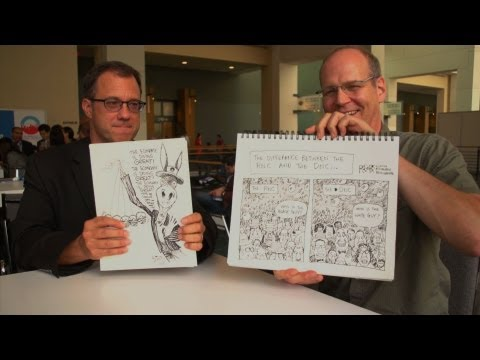 Political Cartoonists Face Off in Drawing Duel at DNC