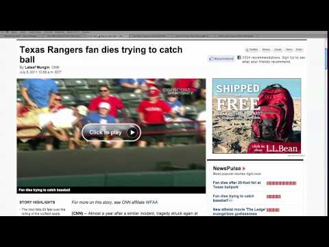 Texas Rangers Fan Falls to Death