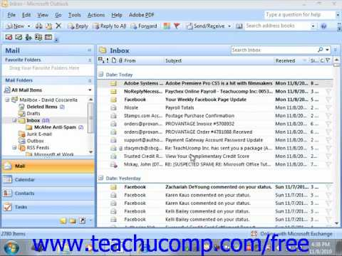 Outlook 2010 Tutorial Deleting Delegates Microsoft Training Lesson 15.3