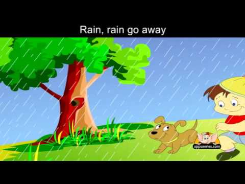 Rain Rain Go Away with Lyrics - Nursery Rhyme
