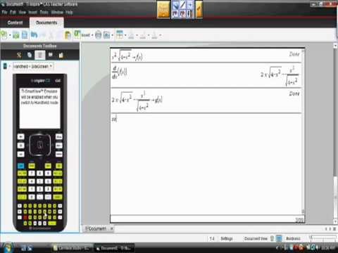 Ap Calculus AB Curve Sketching First and Second Derivative Test Ti-Nspire