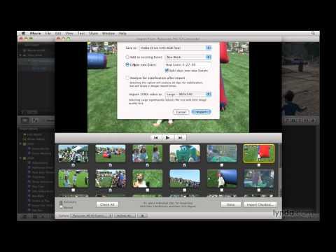 iMovie: Importing from memory-based cameras   lynda.com