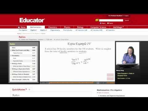 Pre Algebra: Ratios