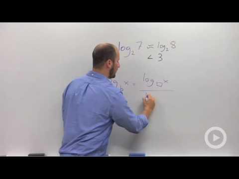 Algebra 2 - Change of Base Formula