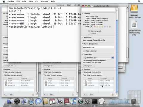 Mac OS X Tutorial - File Ownership and Permissions