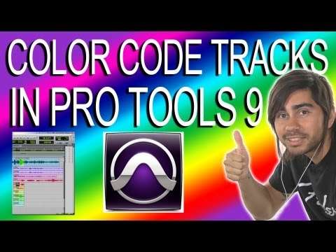 Color Code Tracks - Pro Tools 9