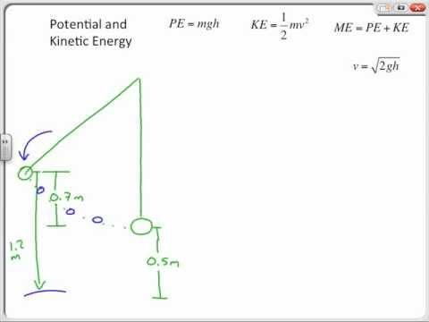 Potential Energy and Kinetic Energy Sample Problems, Chapter 11 Review