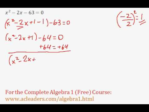 (Algebra 1) Quadratics - Solving by Completing the Square Pt. 2