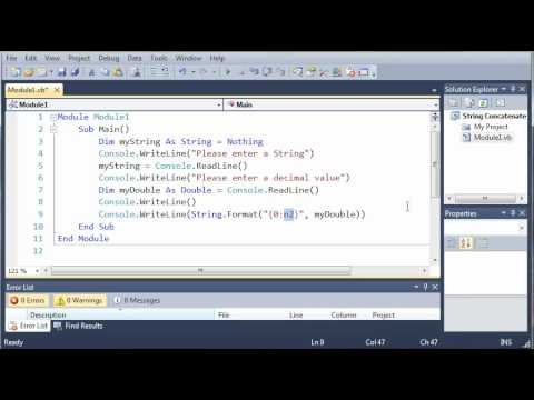 Visual Basic Tutorial - 21 - Formatting Strings