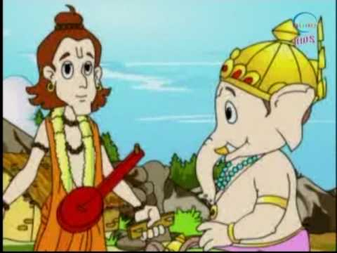 The Story Of Ganesha - Head Of Celesital Army - Kids Animation Tales
