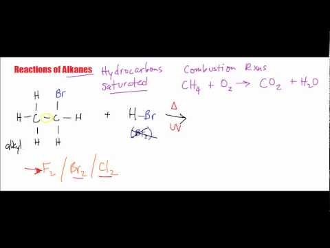 Reactions of Alkanes: Substitution Reactions