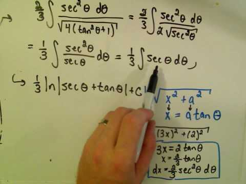 Trigonometric Substitution - Example 2