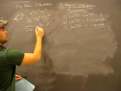 Pythagorean Identity Proof Pt4 Summary: Trigonometry Trig Math Help