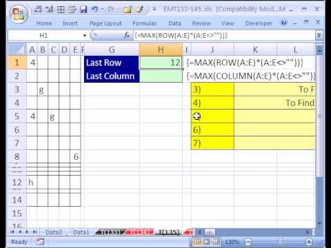 Excel Magic Trick #135: Find Last Row & Column Dynamic Range