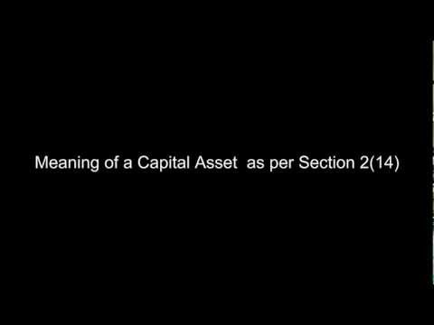 CA IPCC - Income from Capital Gains 5 -  Meaning of a Capital Asset  as per Section 2(14)