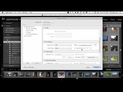 Adobe Photoshop Lightroom 4 Tutorial | Saving Export Presets