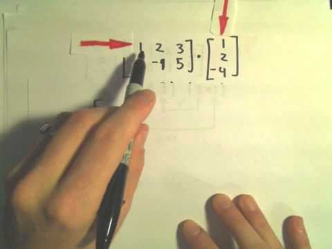 Multiplying Matrices - Example 2